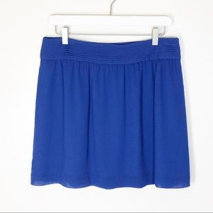 Loft mini skirt blue flowy
